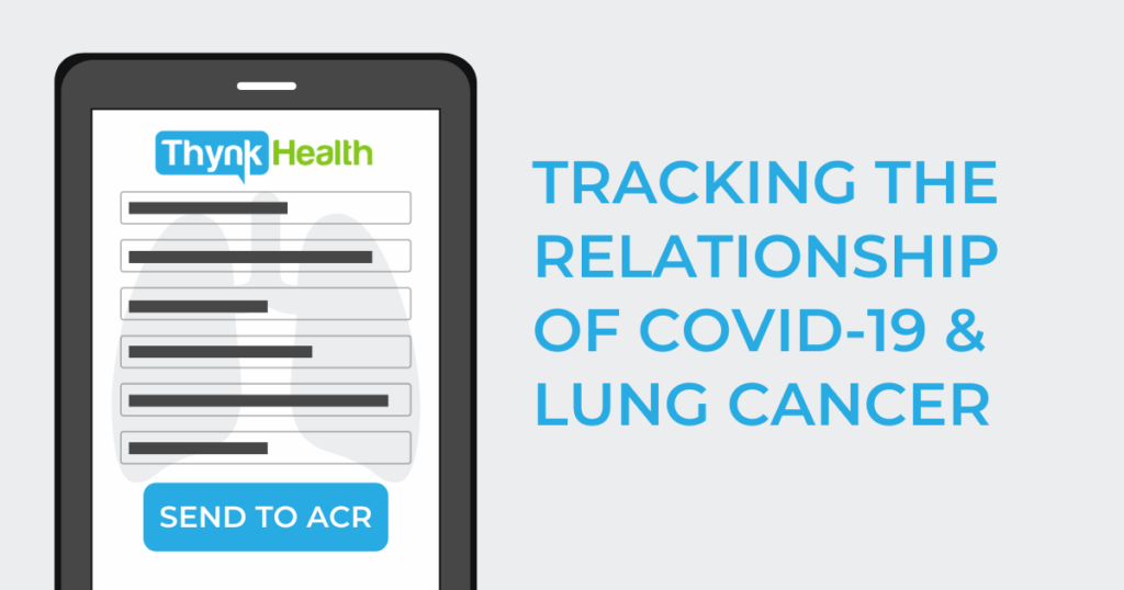 Tablet sends tracking data - Covid-19 & Lung Cancer Connection
